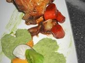 Jarret porc confit Guiness, shamrock radis noir cresson