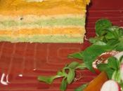 Millefeuille carotte brocoli surimi