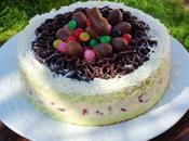Molly cake pistache, crème diplomate, framboises fraîches