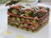 Mille feuilles d'asperges jambon serrano sauce Hollandaise