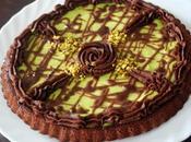 Tarte renversée chocolat pistache