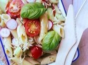 Salade Penne, Basilic Cruditées