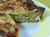 Flan légumes verts (poireaux fèves) thon