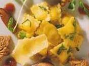 Raviolis mascarpone avec épinards, chanterelles parmesan