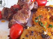 Brochettes rognon veau épicées plancha