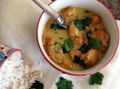Poulet lait coco, coriandre curry