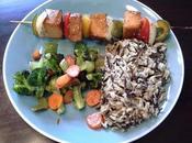 brochette tofu fumé