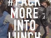 clip tourné heure pour l'opération #PackMoreIntoLunch