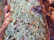 Cake Roquette, tomates confites noix