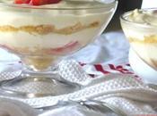 Verrines fraises, crème mascarpone/fromage blanc