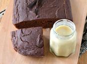 Gâteau tofu soyeux {chocolat-châtaigne} crème anglaise végétale