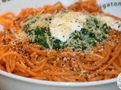 Spaghetti Rosso Epinards Crème