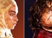 Poly Portraits Characters from Game Thrones