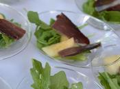 Salade roquette, magret seché pomme granny smith