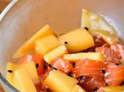 Ceviche saumon, mangue sésame