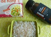 risotto konjac sirop d'érable seulement kcal (diététique, allégé, sans sucre beurre riche fibres)