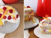 Layer cake noisettes, nectarines framboises [Trish Deseine]