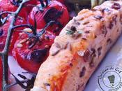 Plancha tomates saumon marinés bière Coriandre, fenouil thym frais