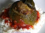 Courgettes rondes farcies grecque (viande, feta, ...)