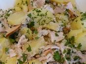 salade pommes terre nouvelles poulet, sauce thon