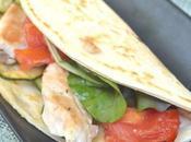 Tortilla poulet légumes grillés plancha