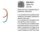 9.0.1 corrige souci blocage après installation d'iOS