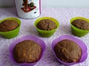 muffins hyperprotéinés cacao café céréales avec chia, psyllium (diététiques, sans beurre oeuf, riches fibres)