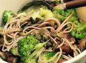 Plat pates soba legumes recette saine