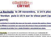 Marche pour climat dimanche novembre Rochelle: place Verdun autour Vieux port chaîne humaine