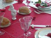 Table rouge blanche