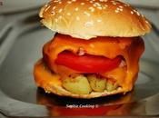 Hamburger pommes rissolées bacon