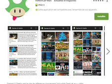 Games Geeks sortie l'application android