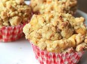 Muffins pommes éclats caramel, crumble noix