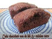 Cake chocolaté raisins secs