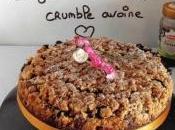 Gâteau fraise-sureau façon crumble avoine