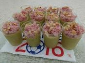 Verrines courgettes jambon noix cajou
