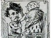 Richard Wagner Louis Bavière dans caricature allemande