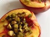 Nectarine rôtie miel pistache