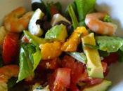Salade estivale Crevettes Mangue