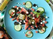 Salade pastèque feta menthe