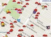 Cette carte vous indique temps réel Pokémon Montréal ailleurs Québec