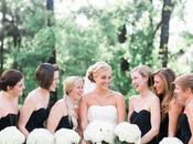 Inspiration mariage élégant noir blanc, avec touches doré
