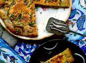 """""""Gamme"""", flatbread mauricien cuit poêle vapeur herbes fraîches, oignons fromage recette famille, celle grand-père"""