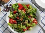 Salade libanaise tomates, laitue poivrons