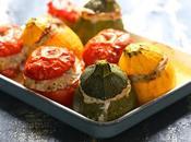 Tomates courgettes farcies veau jambon