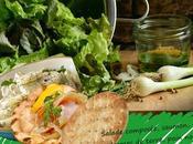 Recette salade pommes terre, saumon, oeufs lump coque pain nordique