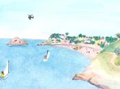 Aquarelle acrylique Bretagne