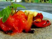 Galettes sarrasin piperade avec tomate blanchie herbes