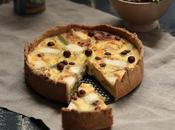 Quiche (sans crème poireaux chèvre noisettes (pâte complète