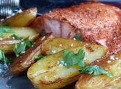 Saumon tandoori & pommes terre fondantes